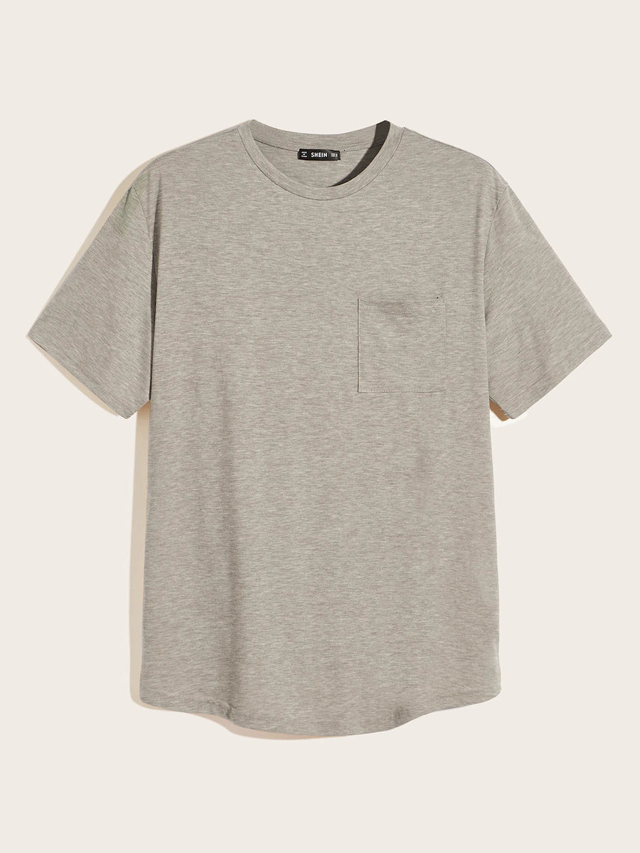Marled Crewneck Pocket Tee