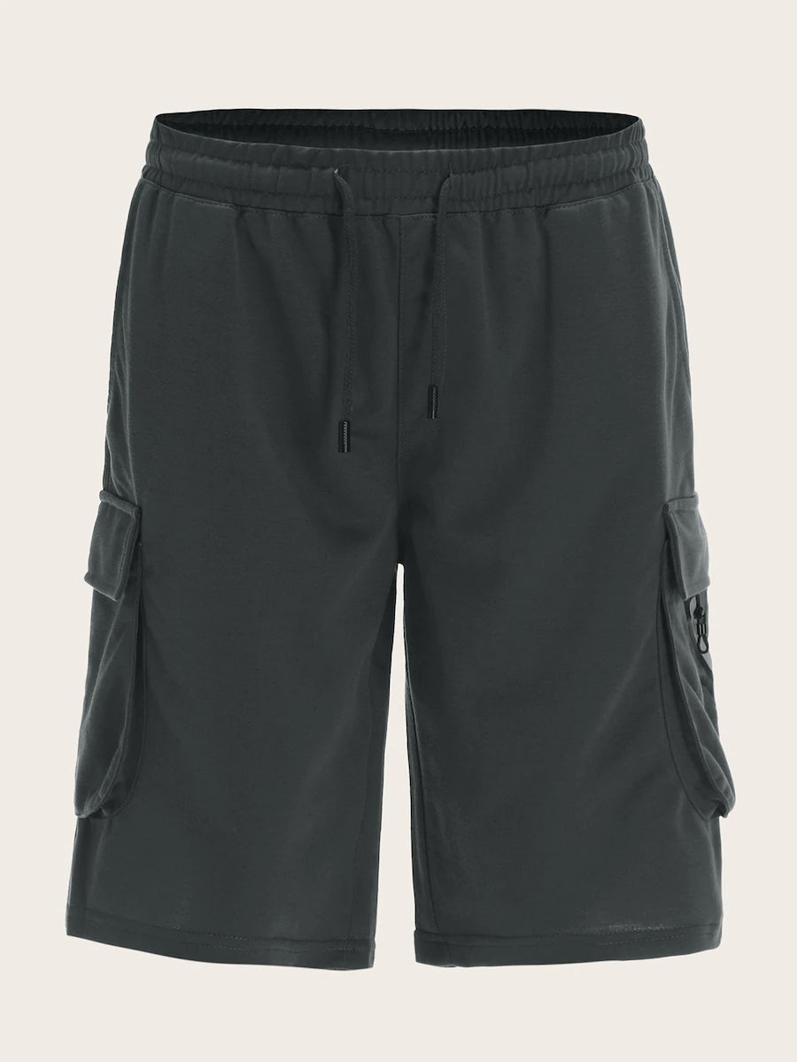 Pocket Side Drawstring Waist Shorts