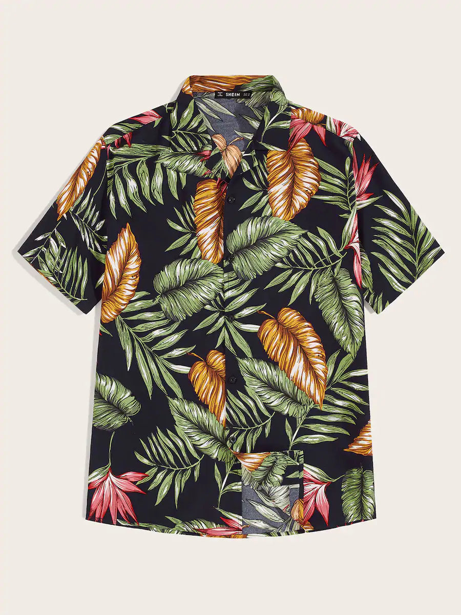 Revere Collar Hawaiian Shirt