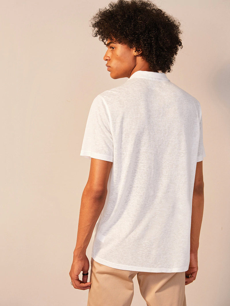 Revere Collar Paper Thin Shirt