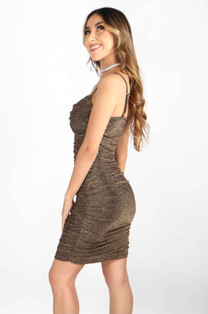 Ruched Glitter Dress