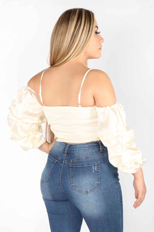 Silky Cropped Blouse