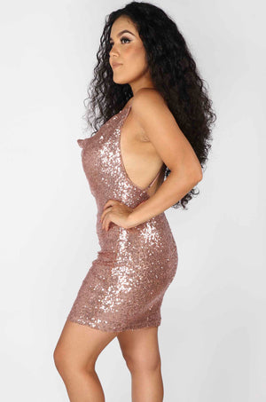 Sequin Birthday Mini Dress