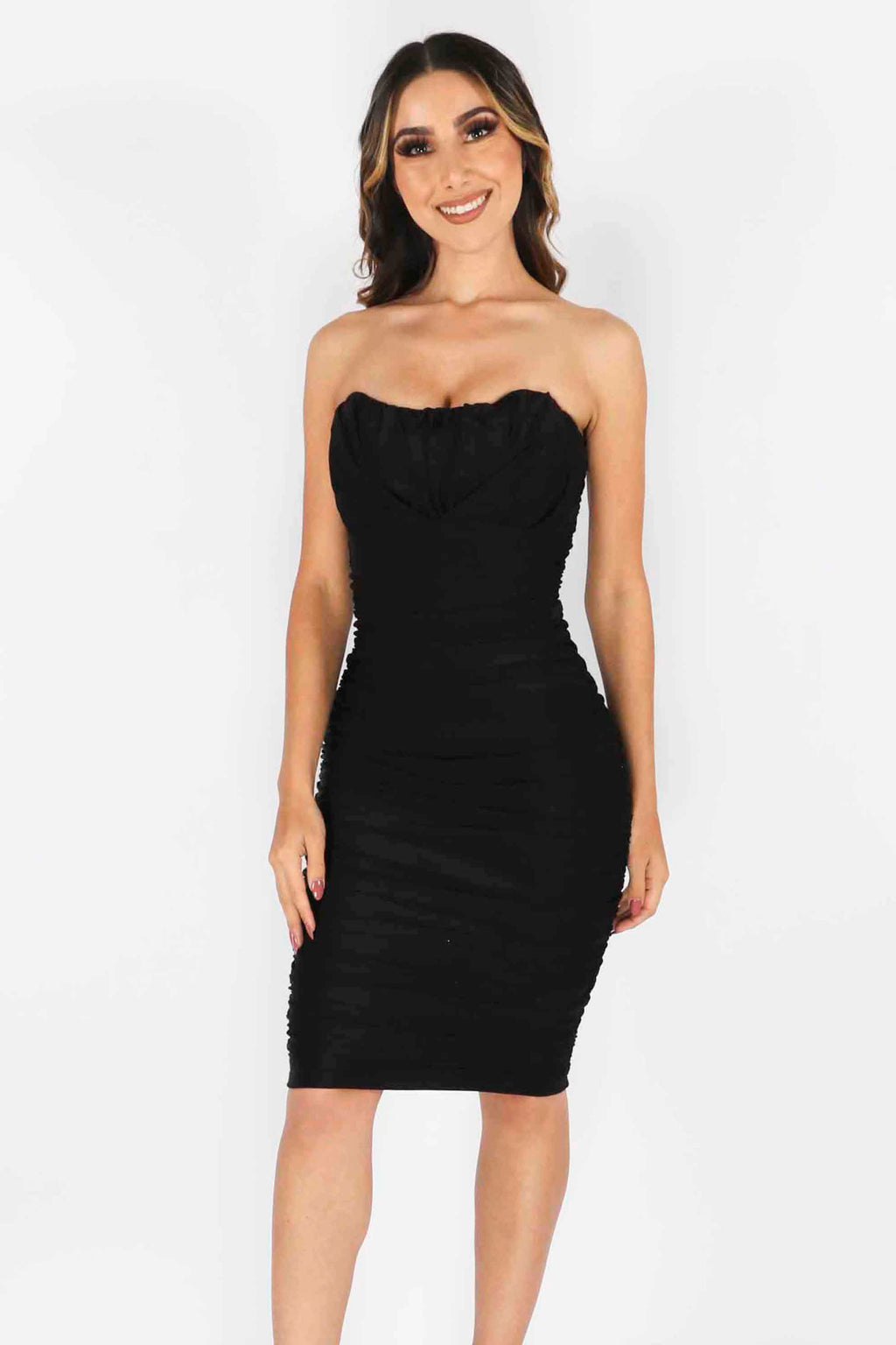Ruched Strapless Dress