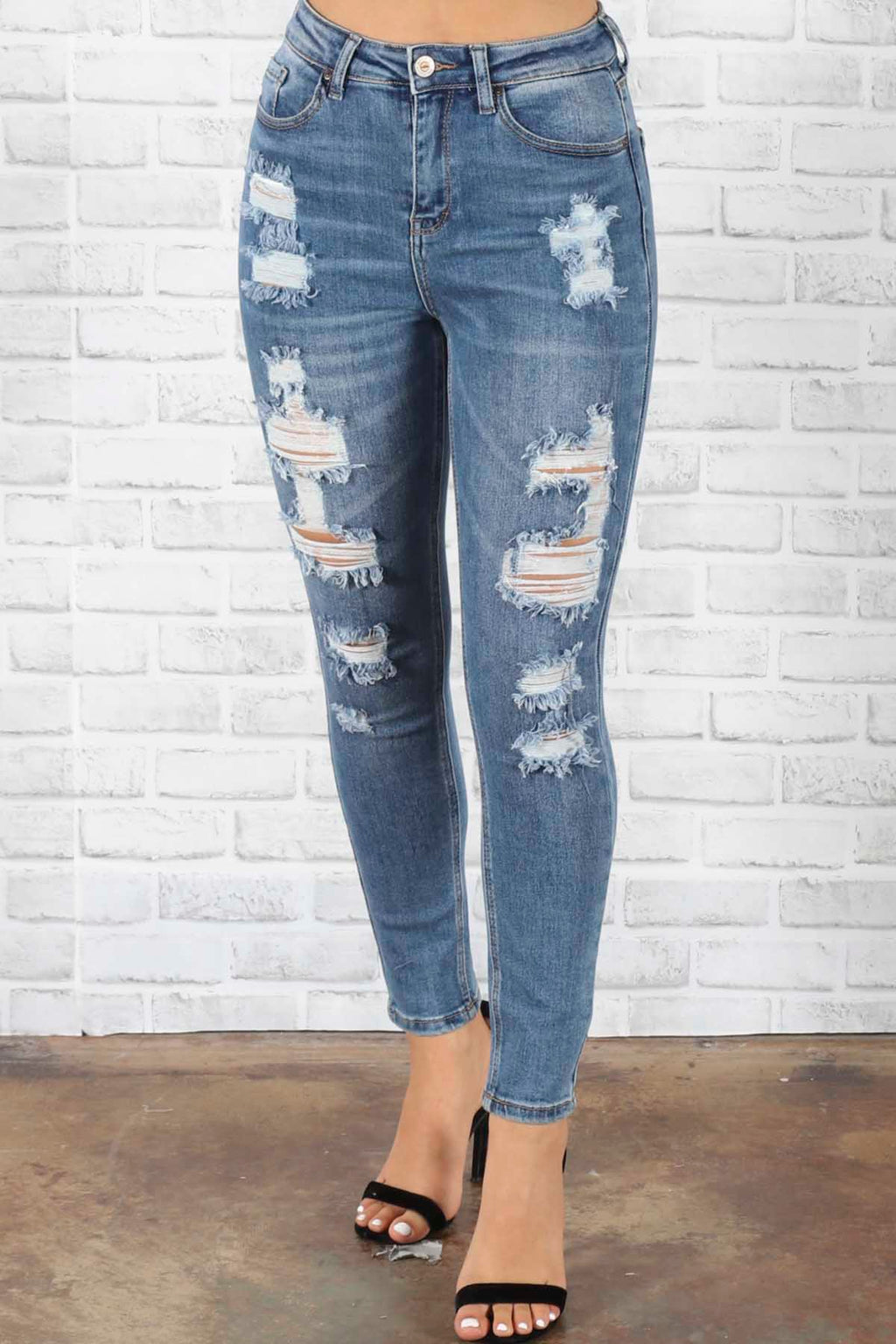 Raven Distressed Jeans