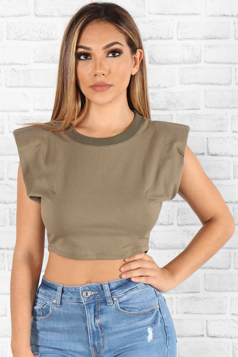 Zara Shoulder Pad Tee