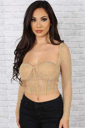 Diamond Mesh Top