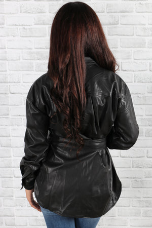 Off Duty Leather Jacket
