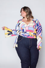 Cropped Plus Size Estampado - Rosa