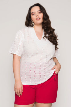 Blusa Plus Size Laise - Off White Blusa Lady More