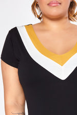 Blusa Plus Size Color - Preto