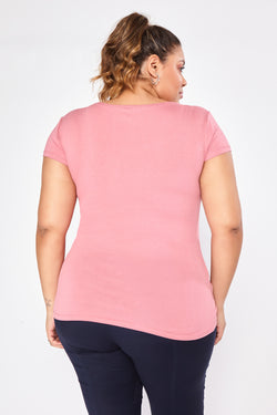 Blusa Plus Size Color - Rosa