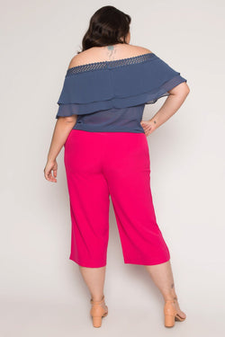 Blusa Plus Size Cigana Lisa - Azul Blusa Lady More