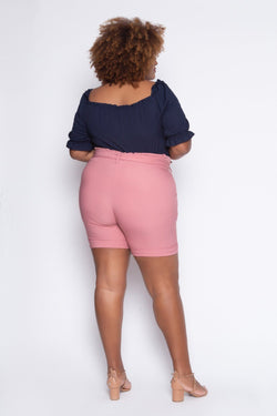 Shorts Plus Size Paperbag - Rosa Shorts Alt Brand
