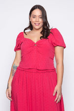 Cropped Plus Size Viscose - Pink Cropped Tal Qual