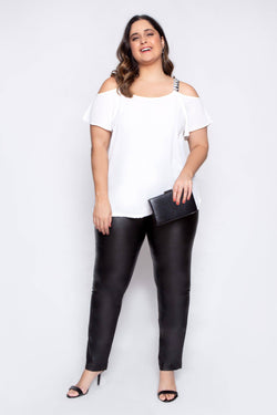 Regata Plus Size Brilho - Off White