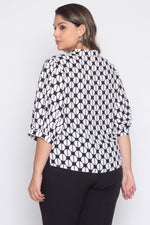 Camisa Plus Size Estampada - Off White