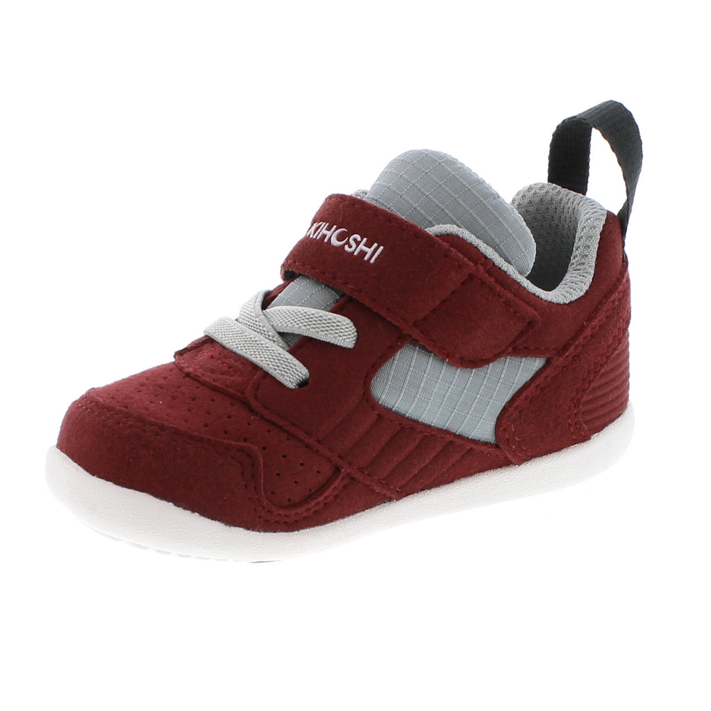 RACER Baby Shoes (Crimson/Gray)