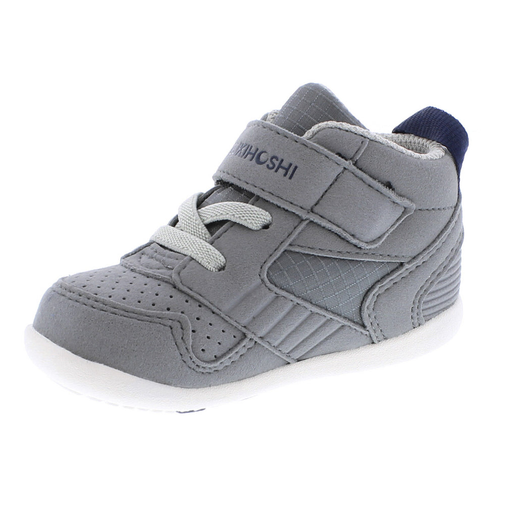 RACER MID Baby Shoes (Gray/Navy)