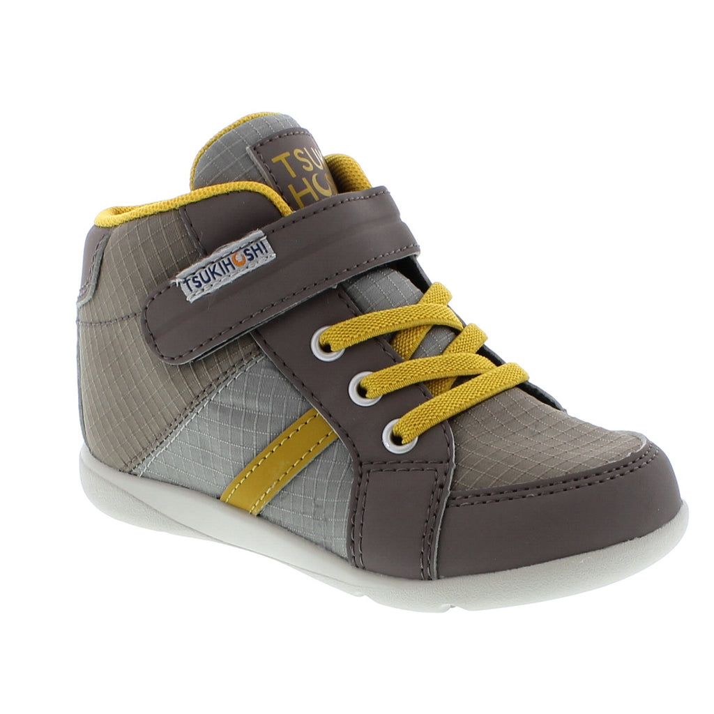 GRID Child Shoes (Tan/Mustard)