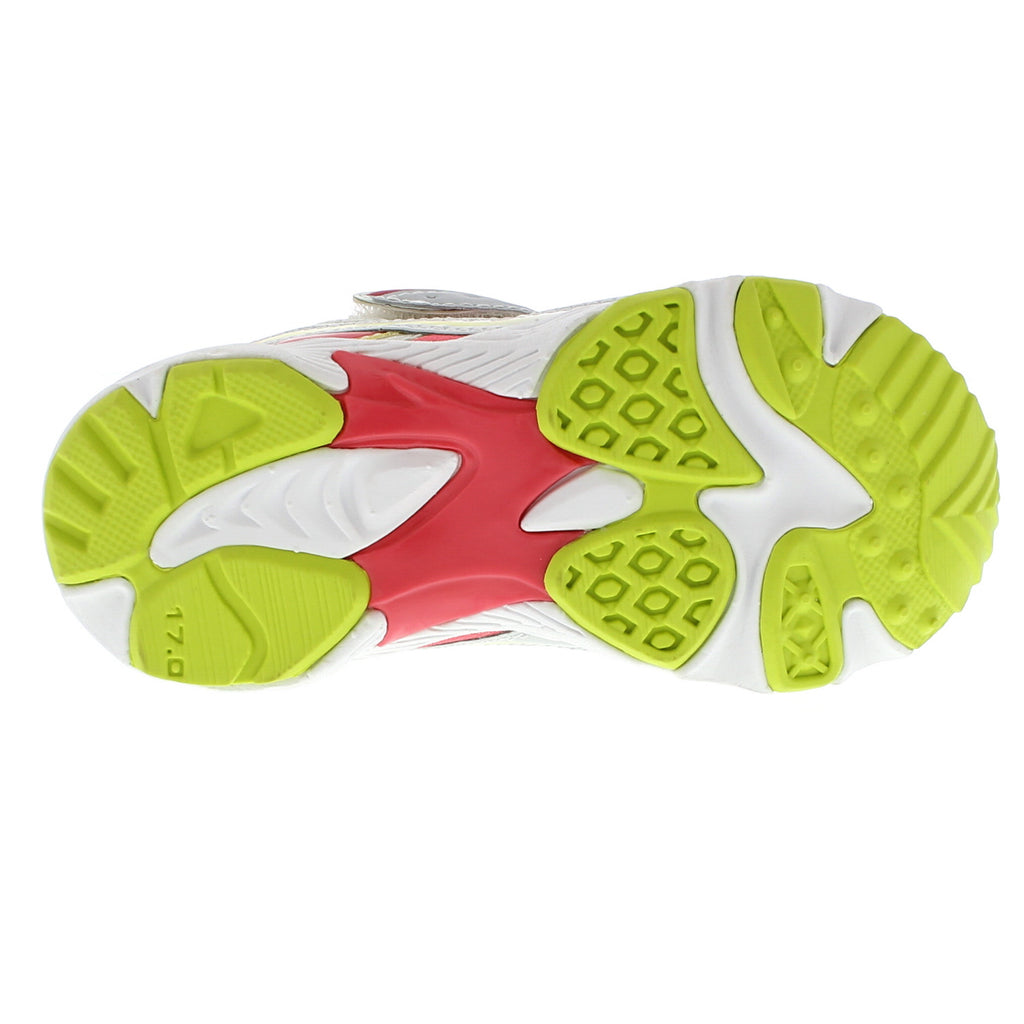GLITZ Child Shoes (Silver/Lime)