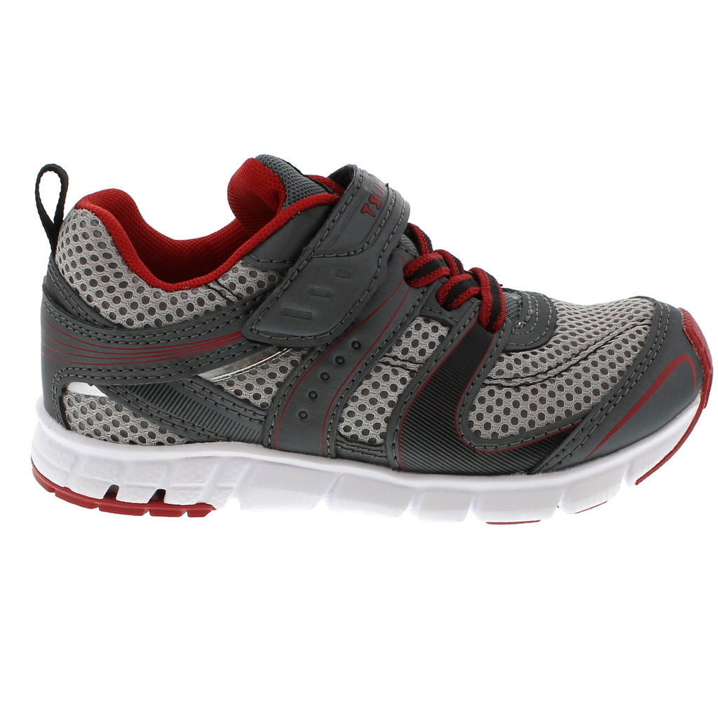 VELOCITY Child Shoes (Graphite/Red)