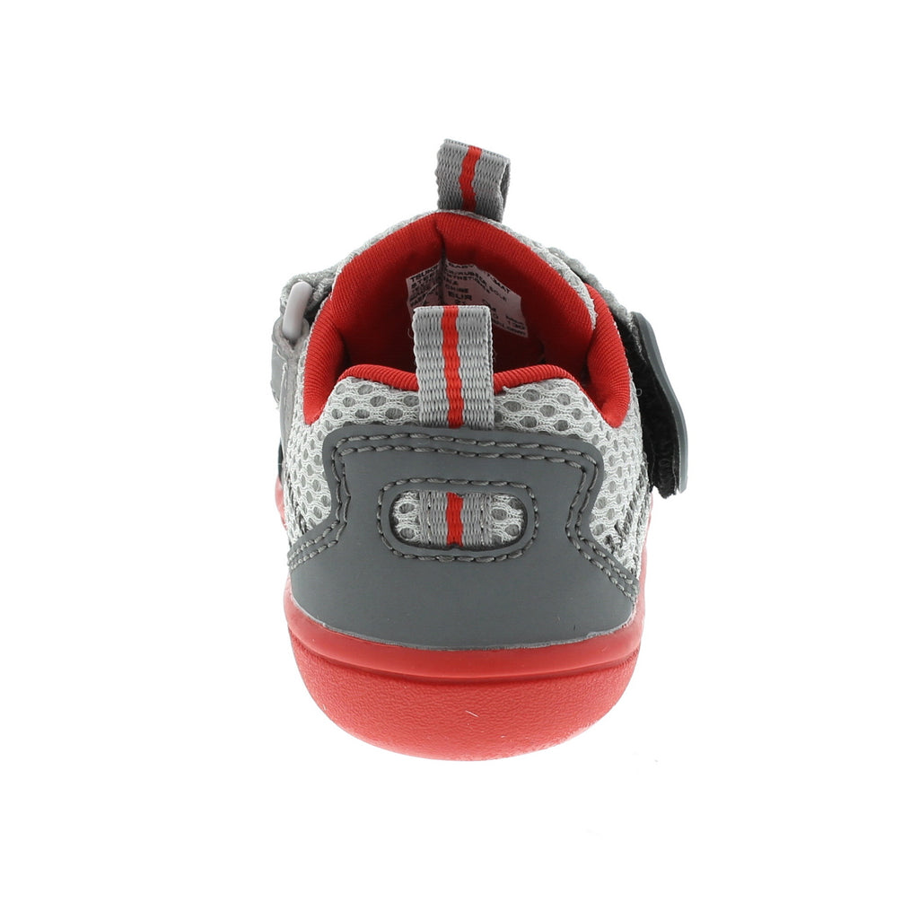 MARINA Baby Shoes (Steel/Red)