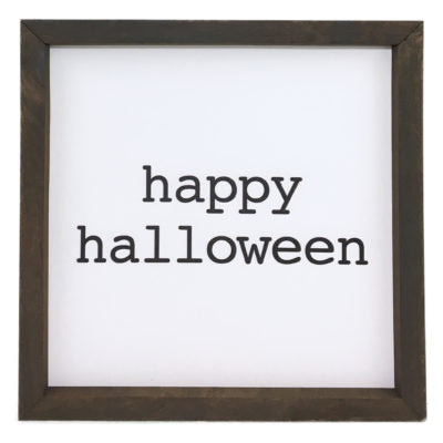 Happy Halloween Block Framed Saying