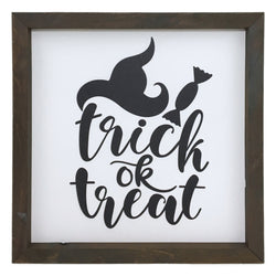Trick or Treat Script Framed Saying