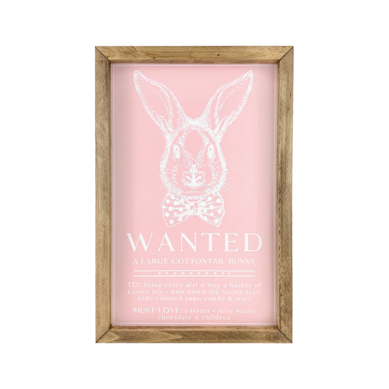 Wanted Bunny <br>Framed Saying