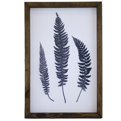 Blue Three Leaves Framed Art