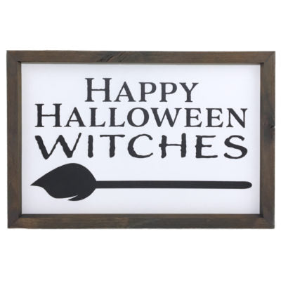 Happy Halloween Witches Framed Saying