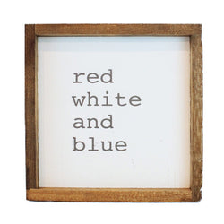 Red White & Blue Framed Art