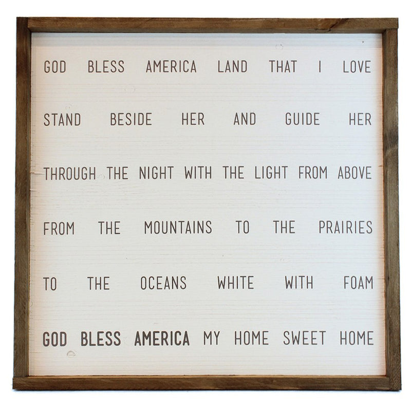 God Bless American Framed Print