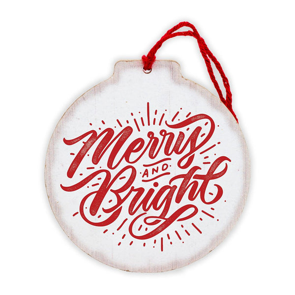 Merry and Bright Tree Ornament