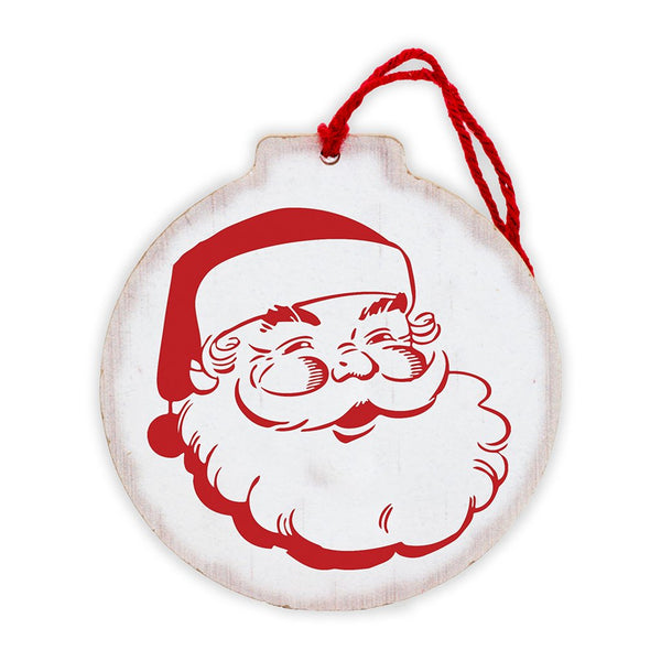 Santa Face Tree Ornament