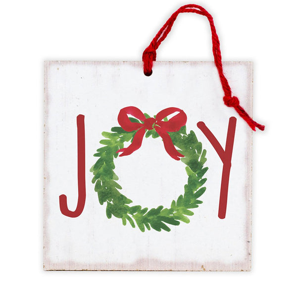 Joy Wreath Tree Ornament