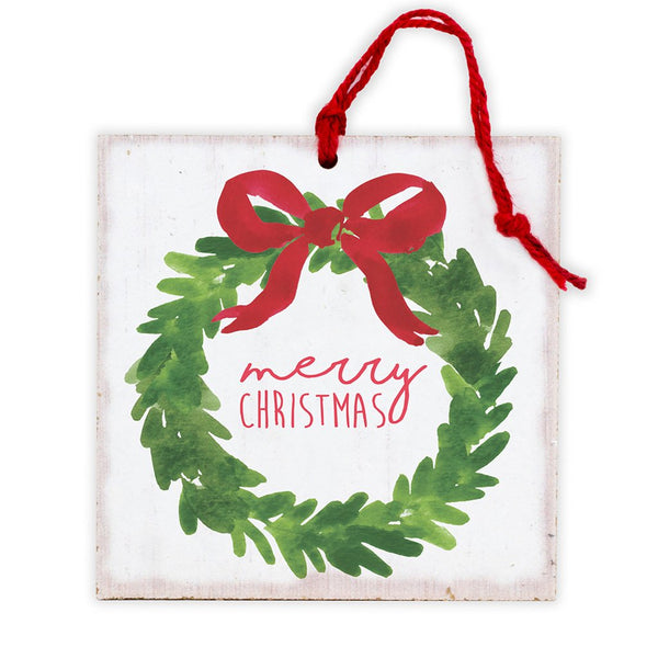 Merry Christmas Wreath Tree Ornament