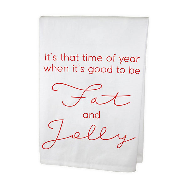 Fat and Jolly Dish Towel