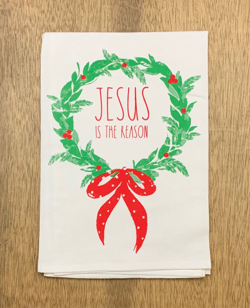 Jesus is the Reason Dish Towel