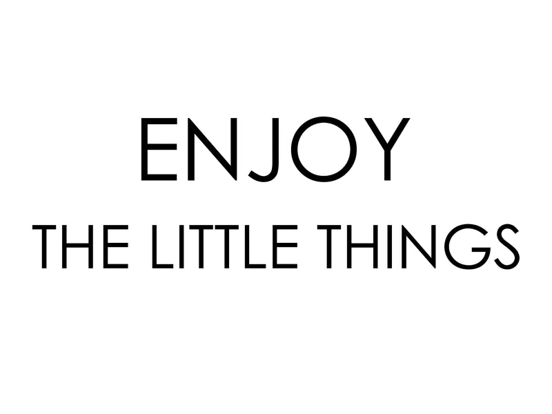 Enjoy the Little Things <br>Framed Saying