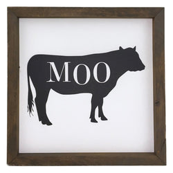 Moo <br>Framed Art