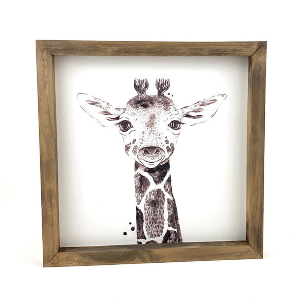 Baby Giraffe <br>Framed Art