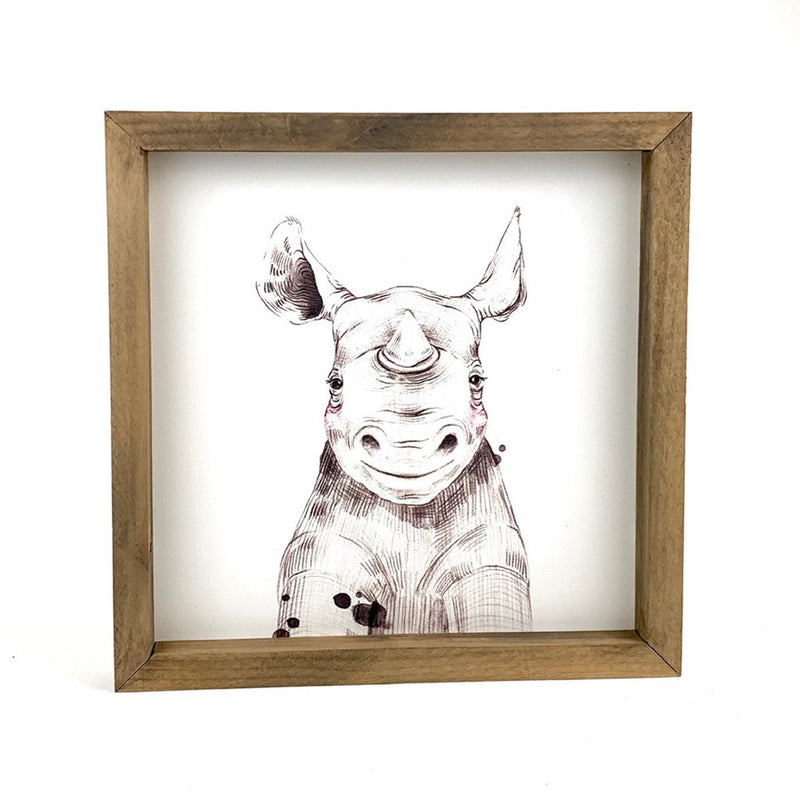 Baby Rhino Framed Art
