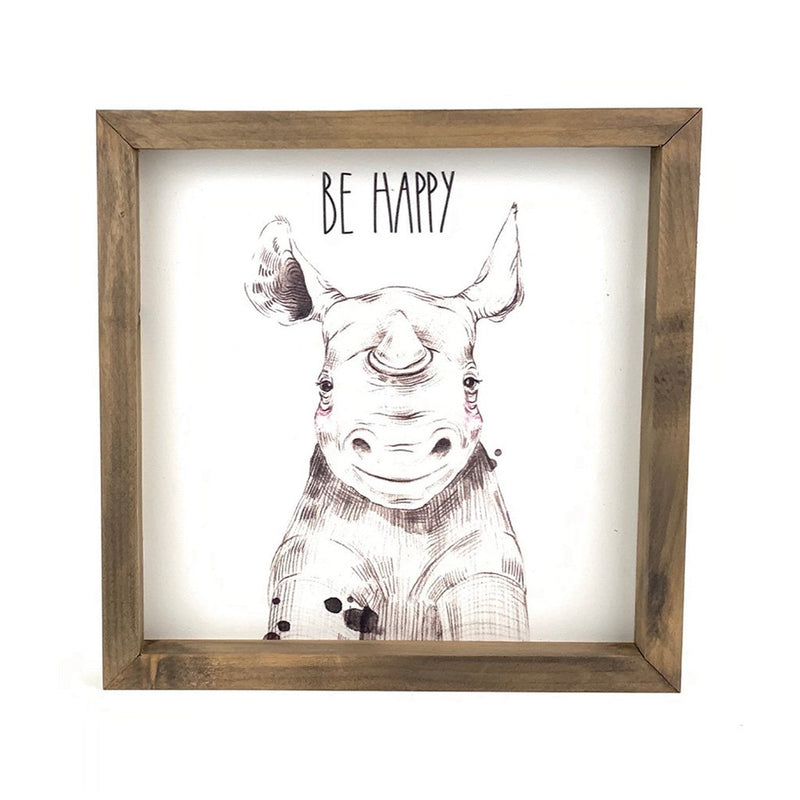 Be Happy <br>Framed Art