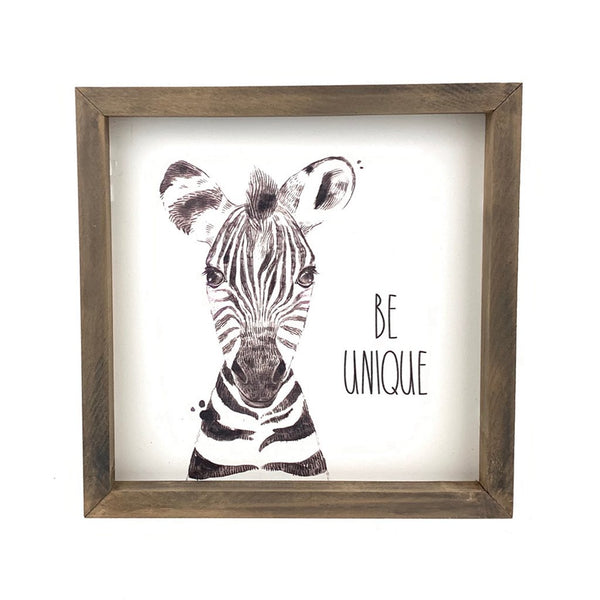 Be Unique <br>Framed Art