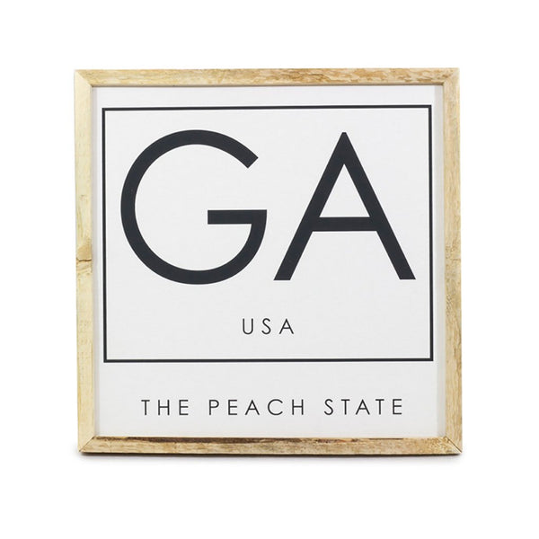 GA Peach State <br>Framed Saying