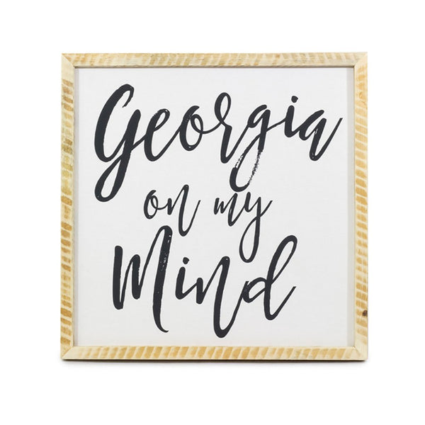 Georgia on My Mind <br>Framed Saying