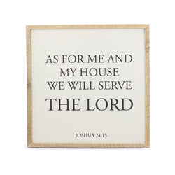 We Will Serve The Lord Framed Saying