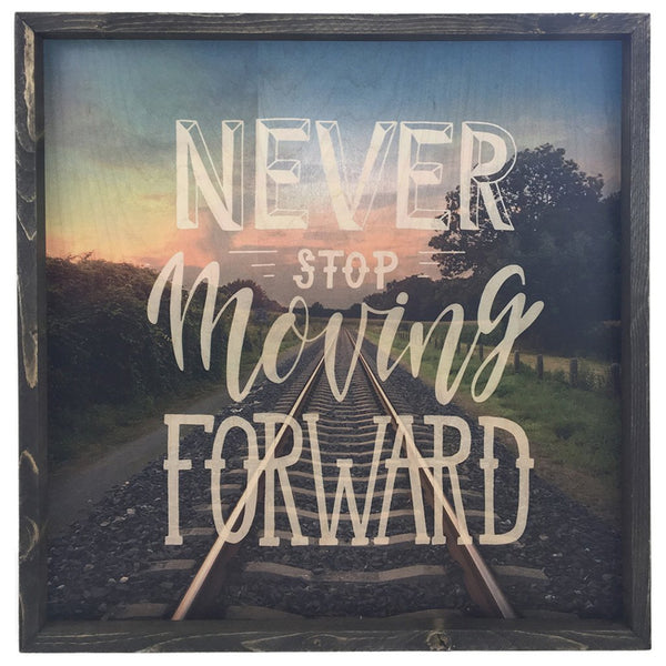 Never Stop Moving Forward <br>Framed Photography